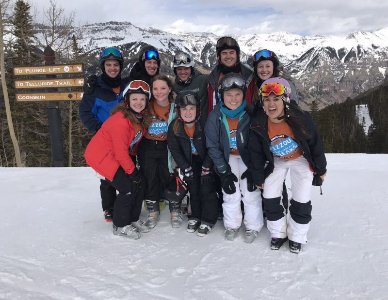 Students serving in Telluride, Colorado on an adaptive skiing focused trip.