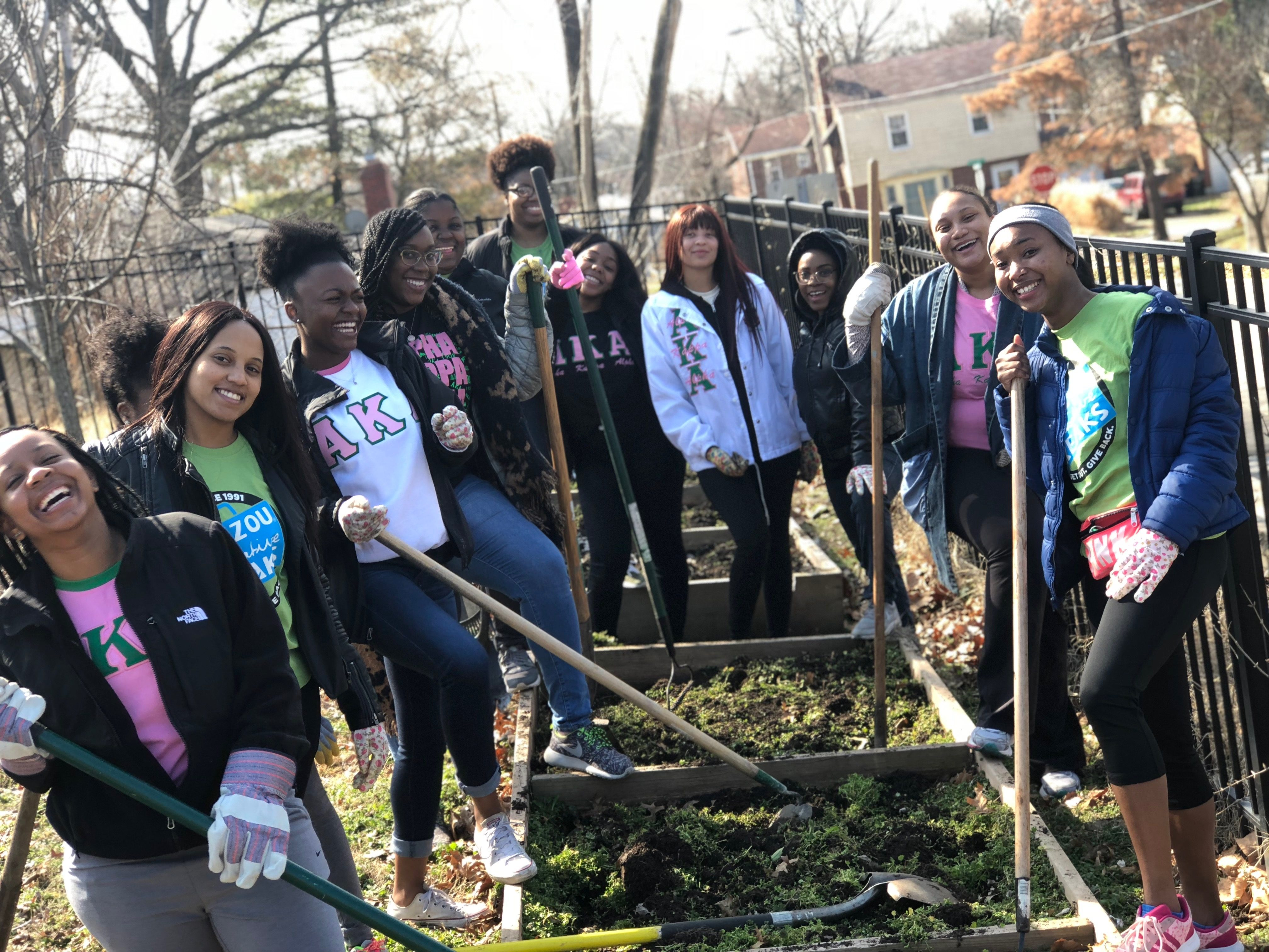 Alpha Kappa Alpha making the St. Louis community prettier, one neighborhood at a time.