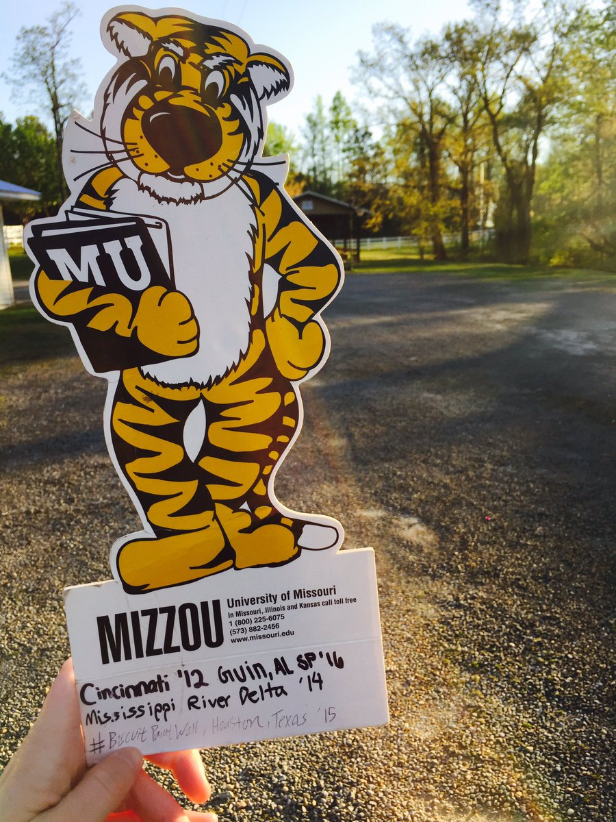 Truman the Tiger in Guin, Alabama serving with the SEC Compact trip.